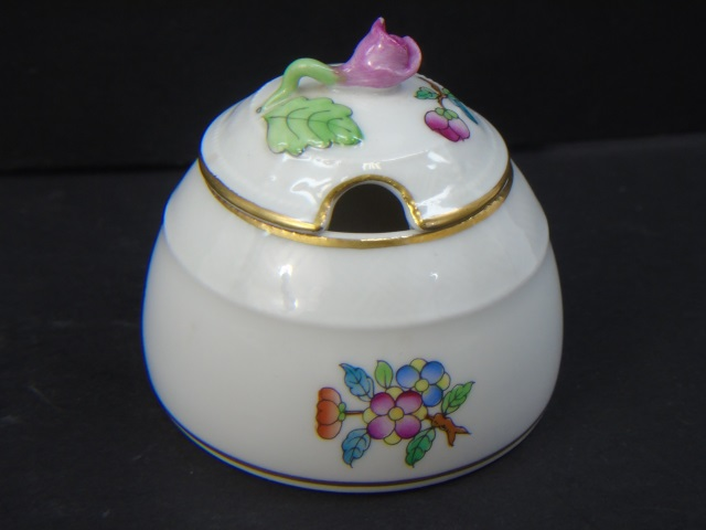 Herend of Hungary Porcelain Condiment Jar