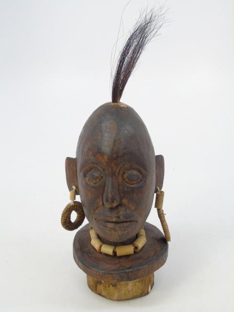 Vintage African Tribal Hand Carved Statue Bust