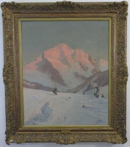 Tony Haller - Signed Alpine Landscape Painting