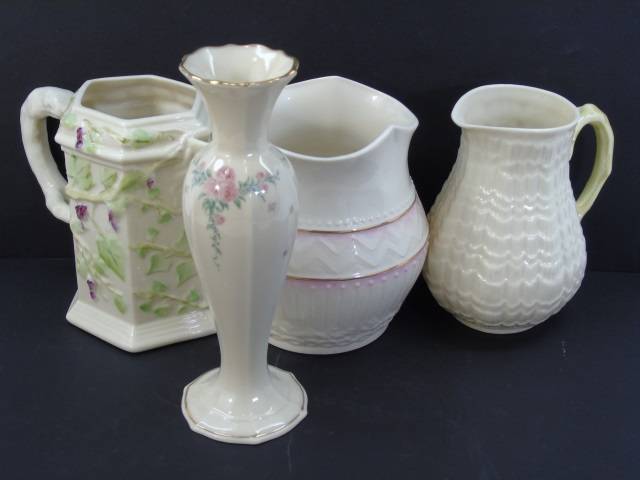 Four Vintage Pieces of Belleek & Lenox Porcelain