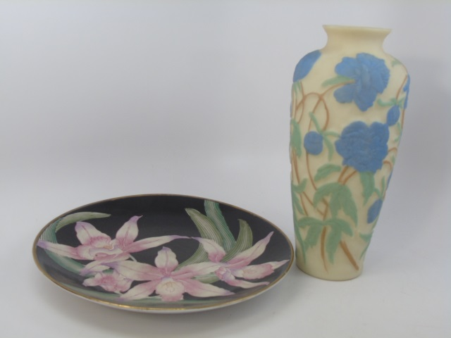 Chinese Porcelain Charger & Peking Style Vase