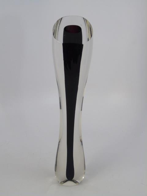 Vintage James Yarrito Blown Art Glass Vase