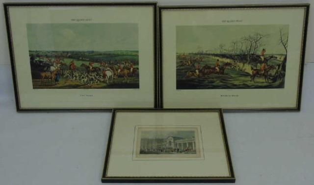 Three Antique & Vintage Framed English Prints