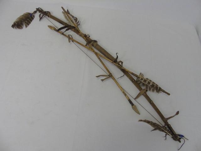 Artisan Made Native American Decorative Bow Arrow