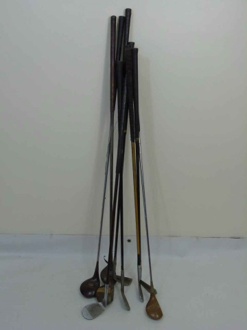 Assorted Vintage Golf Clubs & Irons