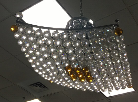 Contemporary Modern Crystal Ball Chandelier