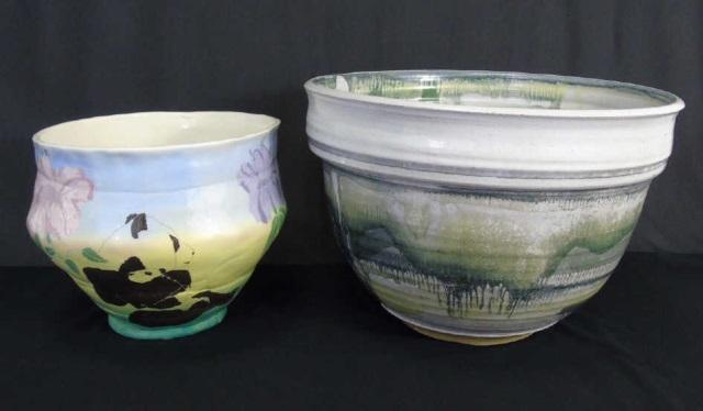 Vintage Handmade Art Pottery Planter Pots