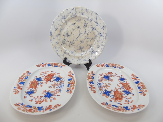 Antique English Plates - Wedgwood & Chamberlain