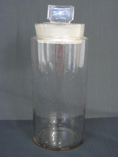 Antique Blown Glass Apothecary Bottle from Harvard