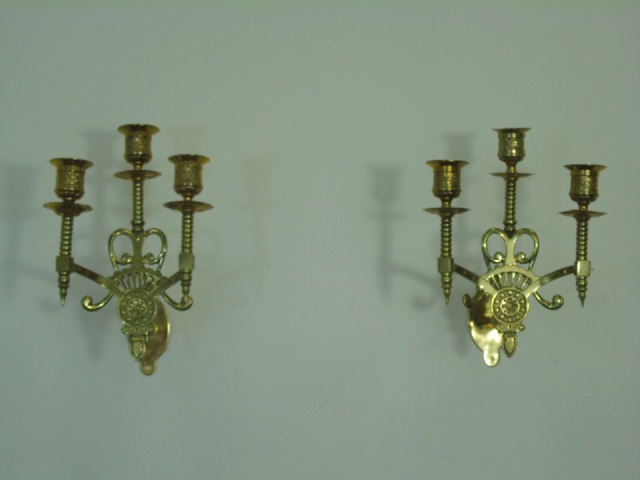 Pair Antique 19th C American Victorian Sconces