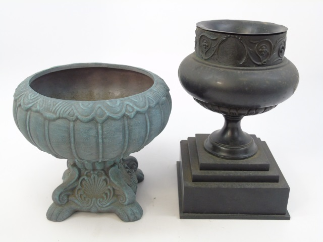 Two Vintage Planter Pots / Urns