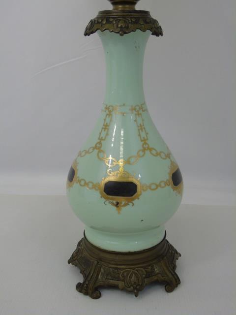 Vintage Porcelain Vase Mount Table Lamp