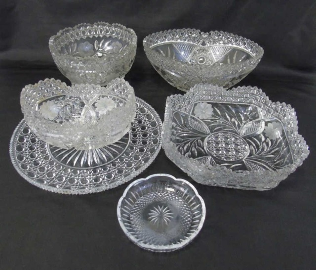 Assorted Crystal & Glass Serving Items
