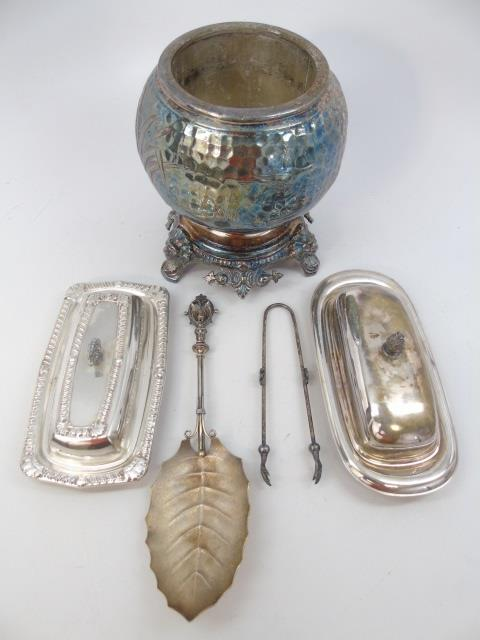 Assorted Silver Plate Victorian Serving Items