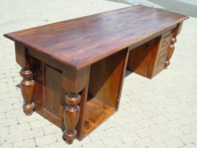 Contemporary Traditional Wooden Desk / Cabinet