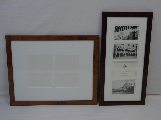 Two Designer Contemporary Frames w Pre-Cut Mats