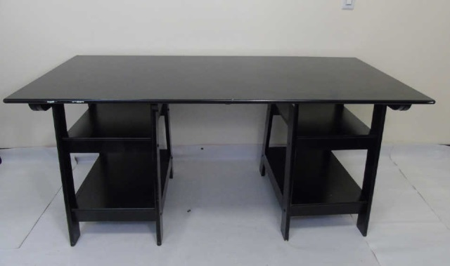 Contemporary Modern Black Painted Office Desk