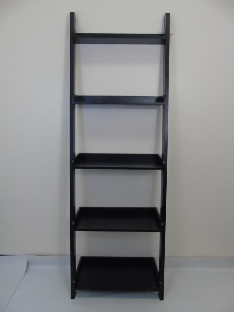 Contemporary Modern Black Painted Bookcase