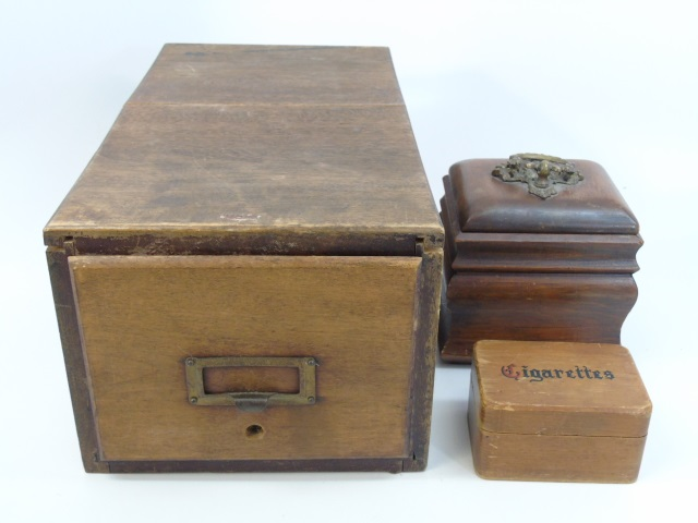 Collection of Three Antique & Vintage Wooden Boxes