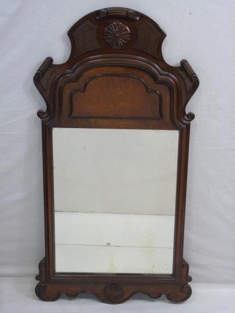 Queen Anne Style Carved Wood Mirror Frame