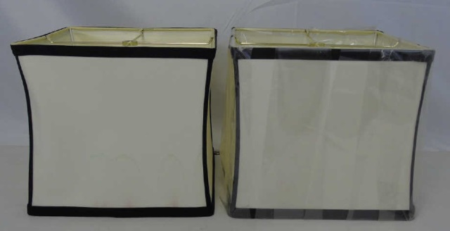 Pair Contemporary Modern Two Tone Lamp Shades