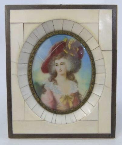 After Joshua Reynolds Antique Portrait Miniature