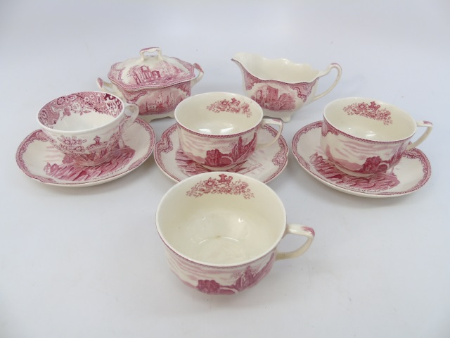 Assorted Johnson Bros Old Castle Porcelain Items