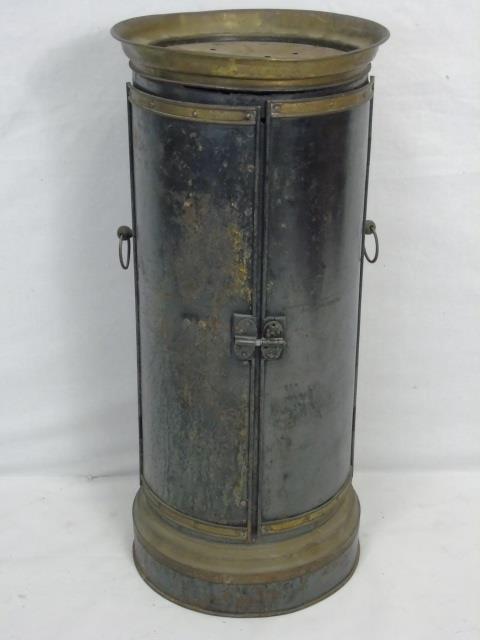 Antique 19th C Metal Room Heater / Stove