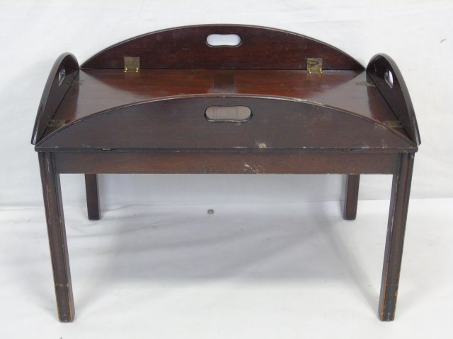English Georgian Style Tray Top Coffee Table
