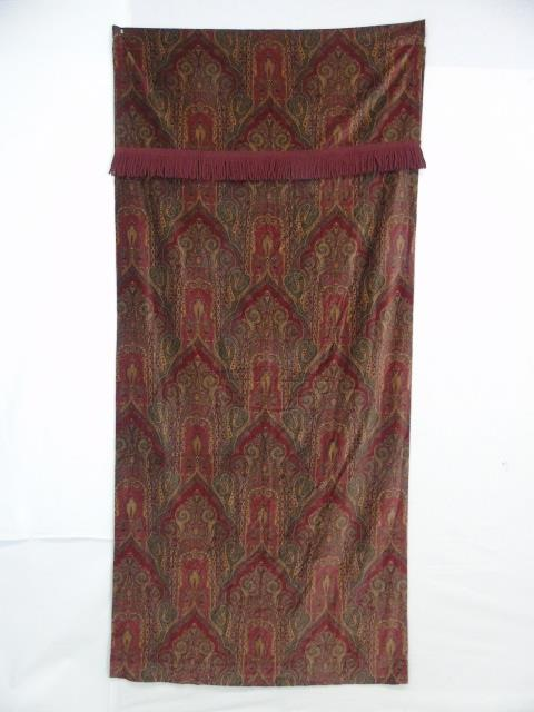 Victorian Style Cotton Velvet Paisley Curtains