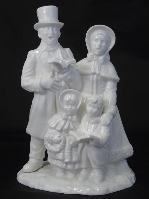 Blanc de Chine Porcelain Table Statue of Carolers