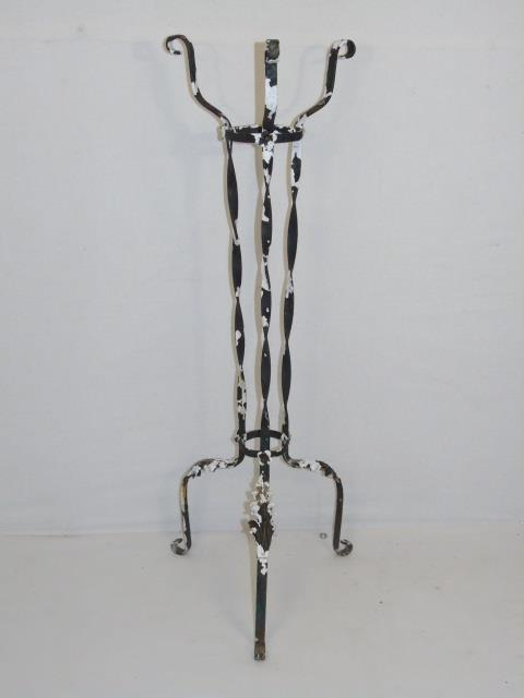 Antique Early 20th C Painted Iron Plant Stand