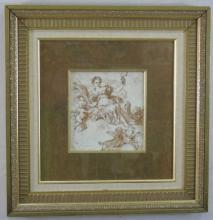 Framed Print of Goddess Demeter w/ Wheat Sheaf
