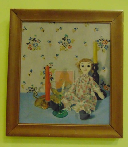 Barbara Spofford - Framed Painting of Raggedy Ann