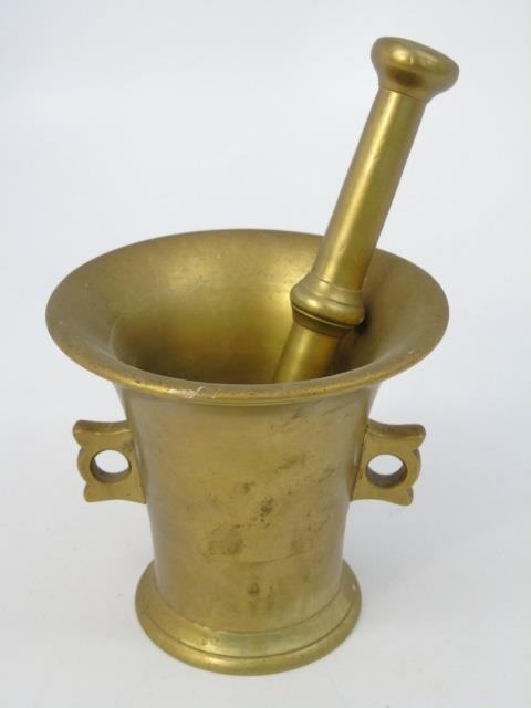 Gilt Metal Mortar & Pestle by L Hansen