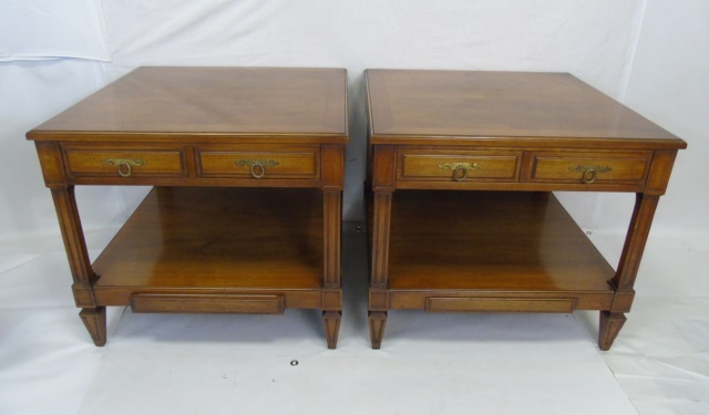 Pair Traditional Style Berkey Furniture End Tables