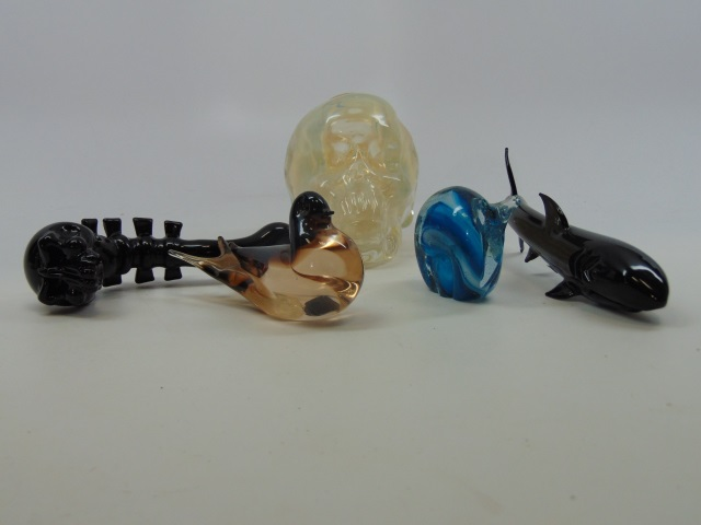 Collection of Blown Art Glass Statues & Pipes
