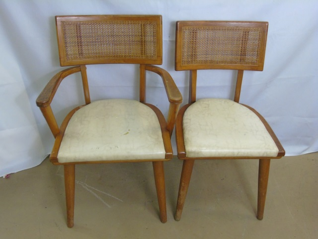 Mid Century Modern Armchair & Side Chair