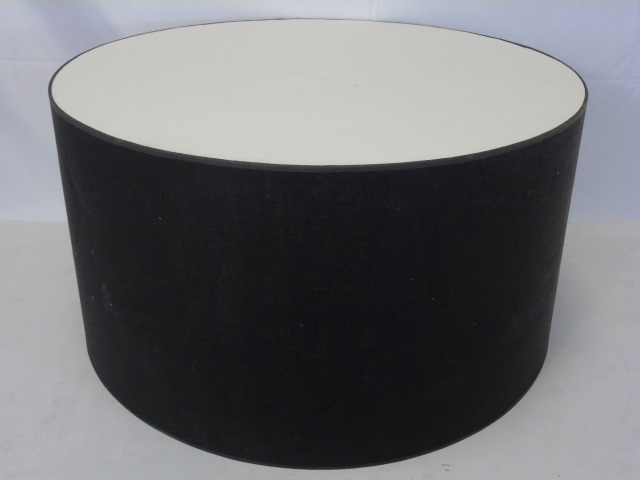 Contemporary Modern Large Light Fixture Drum Shade