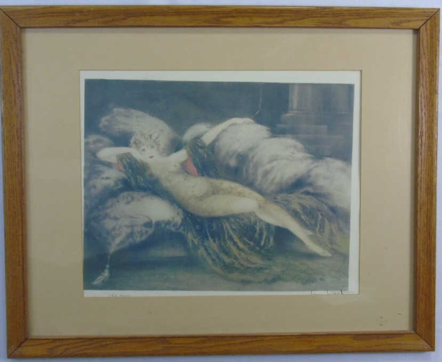 Louis Icart - Signed & Framed Art Nouveau Print