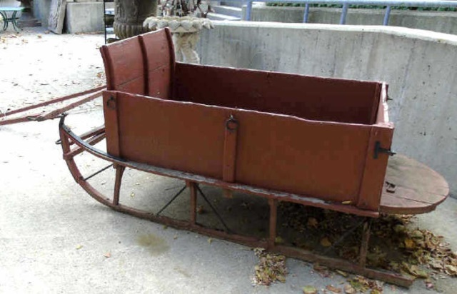 Antique American Amish Milk Farm Sled