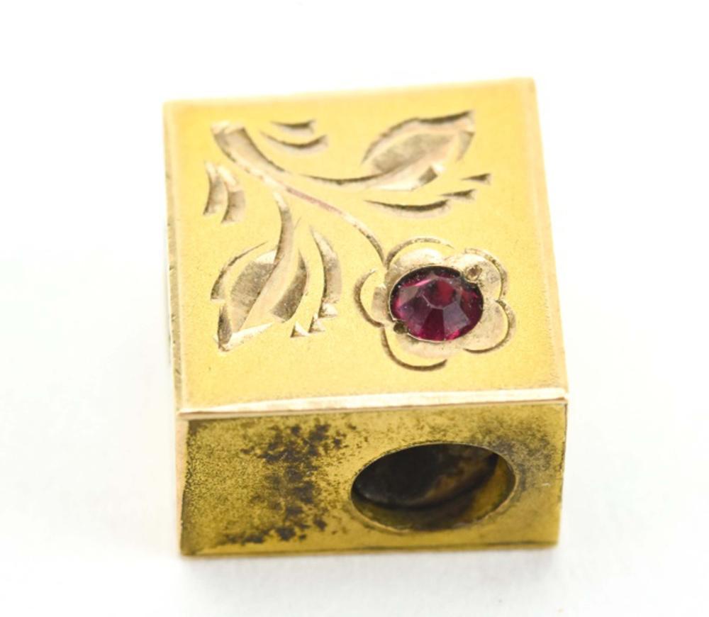 Antique 19th C 10 KT Gold Necklace Slide