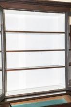 Antique Glass Front Curio Cabinet Bookcase