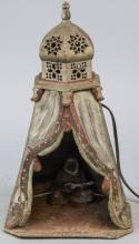 Franz Bergman Austrian Painted Bronze Table Lamp