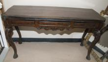 Antique Walnut Turn Top Dining Table