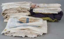 Lot of Vintage Table Linens, Tablecloths, Napkins