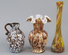 Lot of Vintage Murano Style Glass Vases