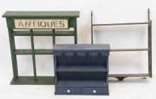 Lot of Vintage Display Shelves