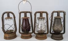 Antique Dietz Flat Wick Burner Kerosene Lanterns