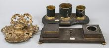 Lot Of Three Vintage & Antique Inkwells
